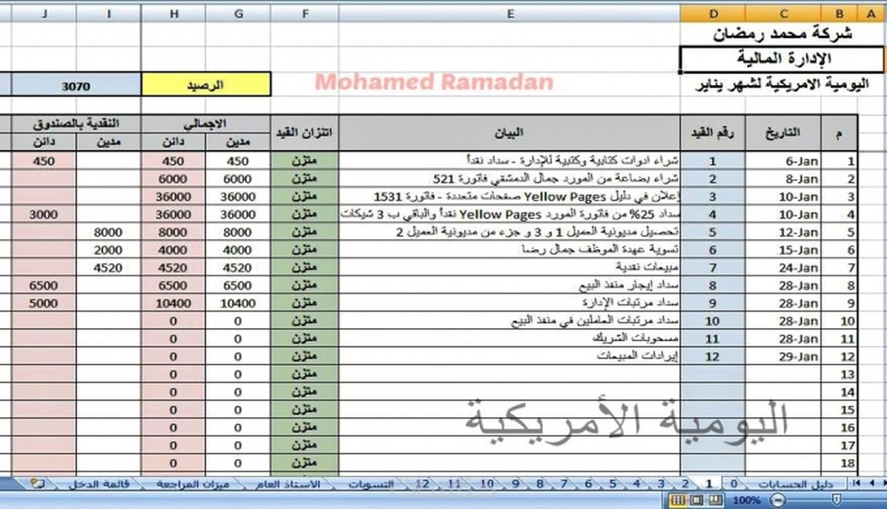 برنامج دفتر الحسابات
