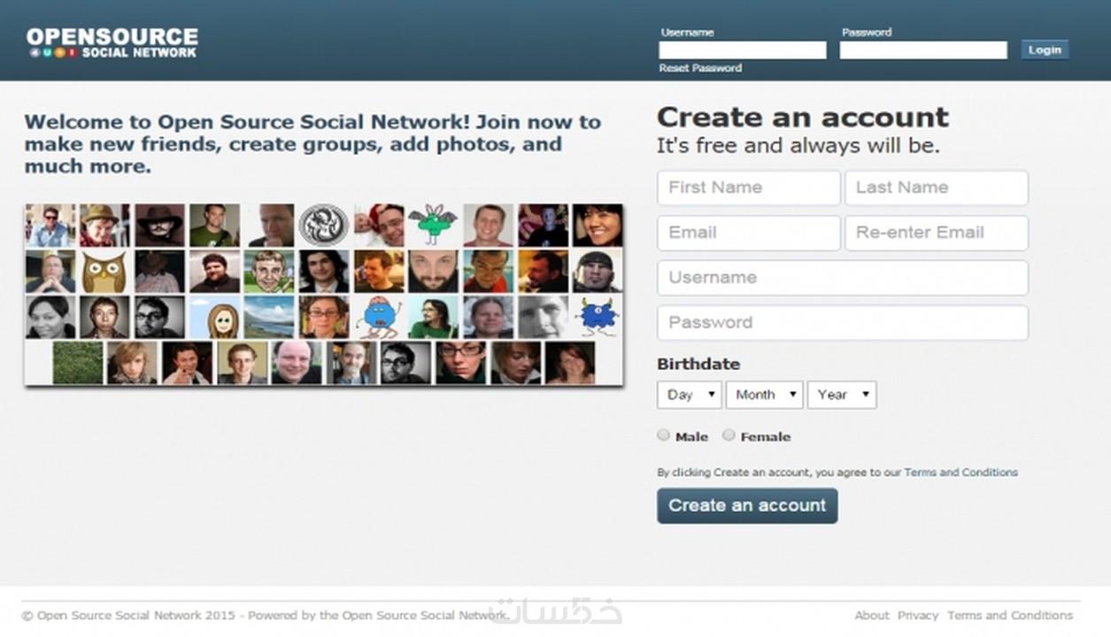 تركيب سكربت موقع تواصل اجتماعي مثل الفيس بوك - خمسات