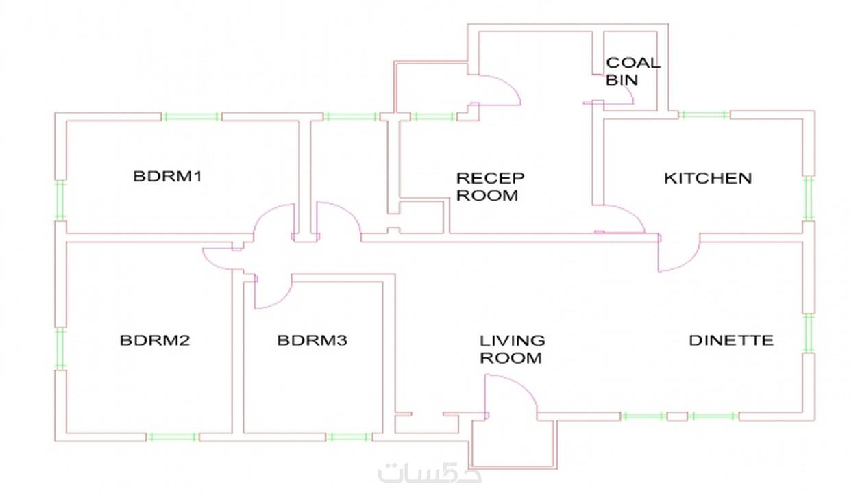 رسم مخطط منزل بأستخدام برنامج الاوتوكاد خمسات