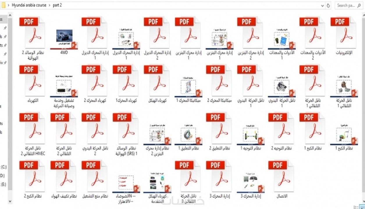 كورس عربي لتصنيع السيارات من شركة هيونداي شرح Pdf خمسات