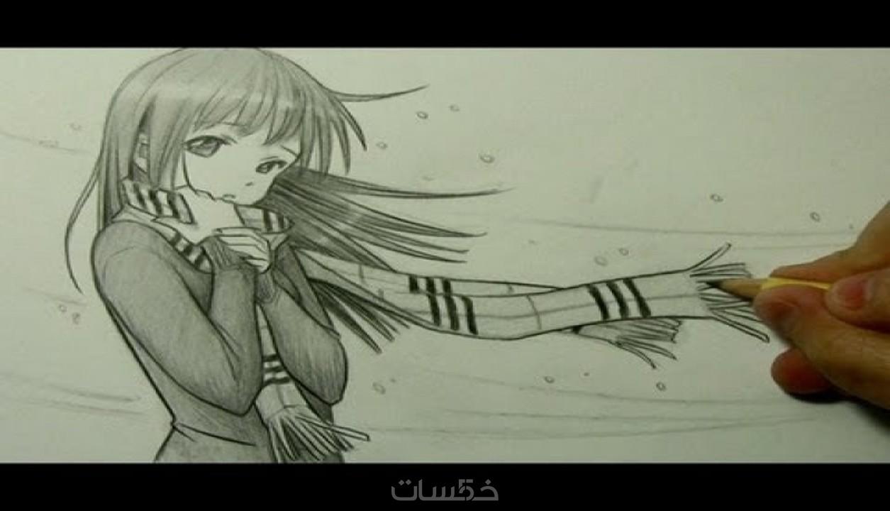 رسم بنات المنغا Dessiner Fille Manga خمسات