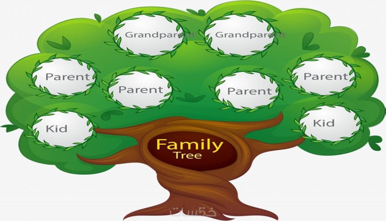 عمل شجرة لعائلتك ب 5 خمسات
